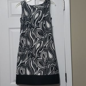 AB Studio Black and White Dress Size 2